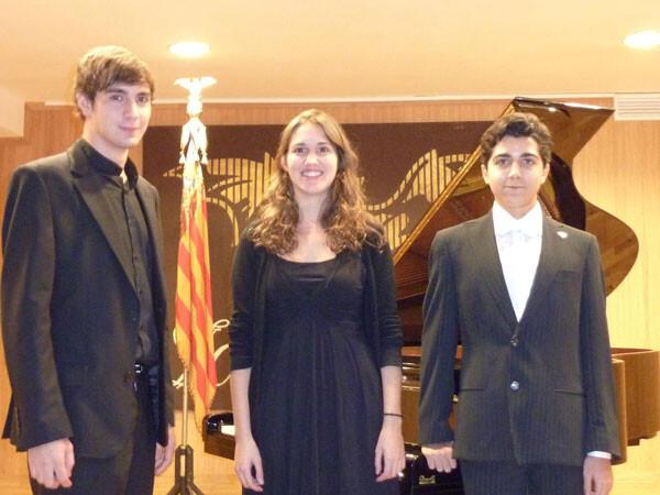 Ganadores del Concurso de Piano Mestre Josep Serrano 2012