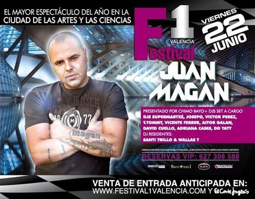 Cartel del concierto que tiene como principal atractivo a Juan Magan
