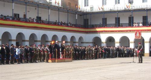Acto de jura de bandera de civiles en el Acuartelamiento de San Juan de Ribera/e.p.