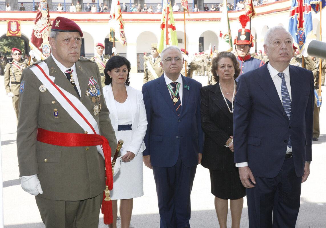 El Ministro de Asuntos Exteriores, José Manuel García Margallo, en el homenaje a los caidos/p.sapena