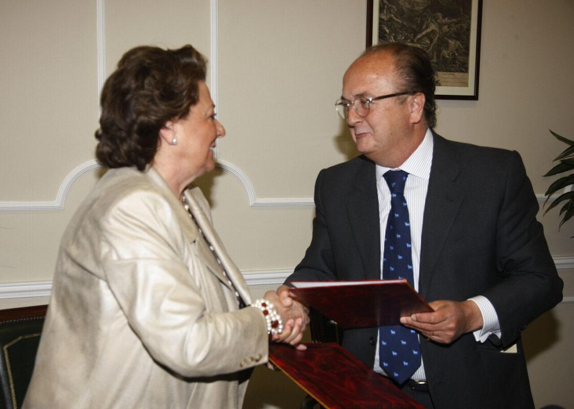 La alcaldesa y el decano del Colegio de abogados/pepe sapena