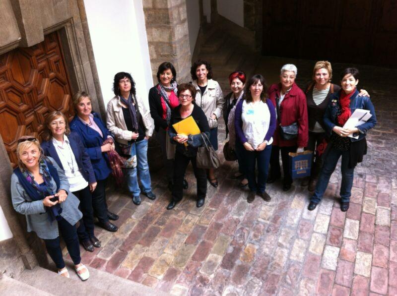 Las representantes de los museos del proyecto MUSAS