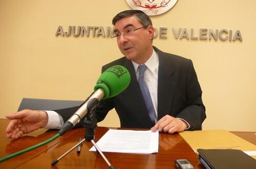 El concejal socialista Pedro M. Sánchez/vlc