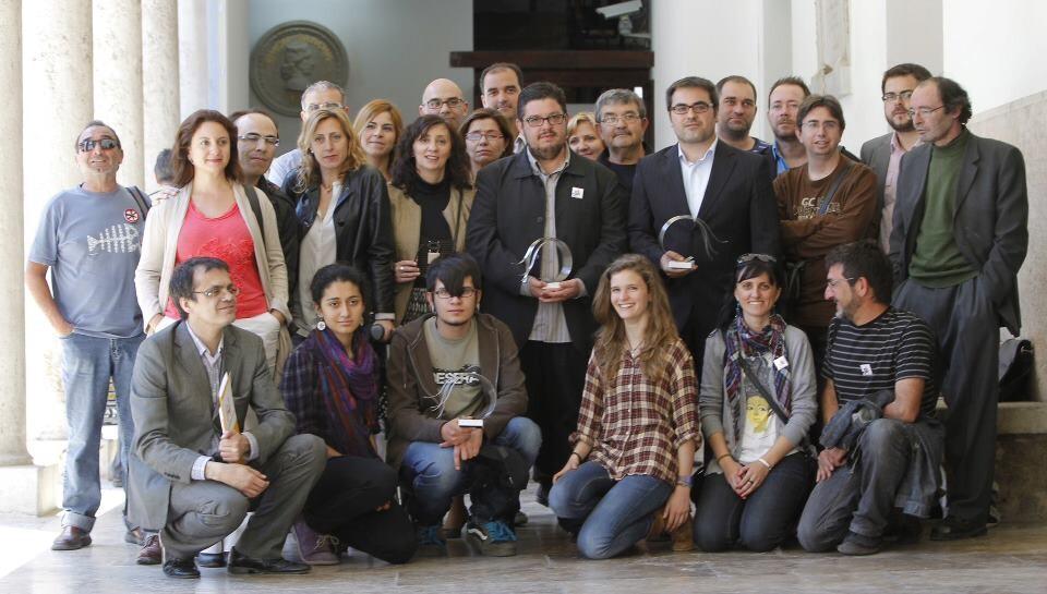 Los premiados en el Paraninfo de la Universidad/unio