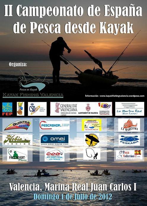 Cartel oficial del campeonato de pesca kayak