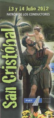 Cartel de las fiestas de San Cristóbal de la federación de transportistas.