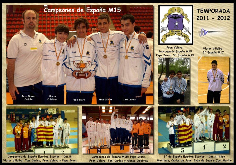 Cuadro conmemorativo del curso de esgrima 2011-12