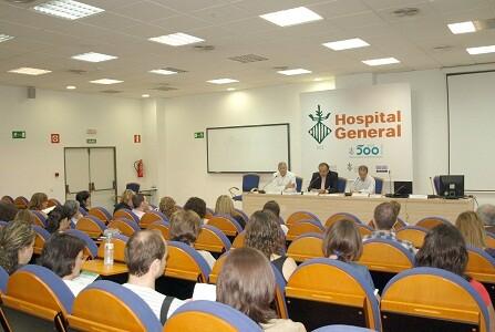 Acto inaugural de las jornadas en el Hospital General