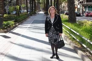 La concejala socialista Pilar Calabuig en la zona central de Regne de Valencia/vivelasfallas