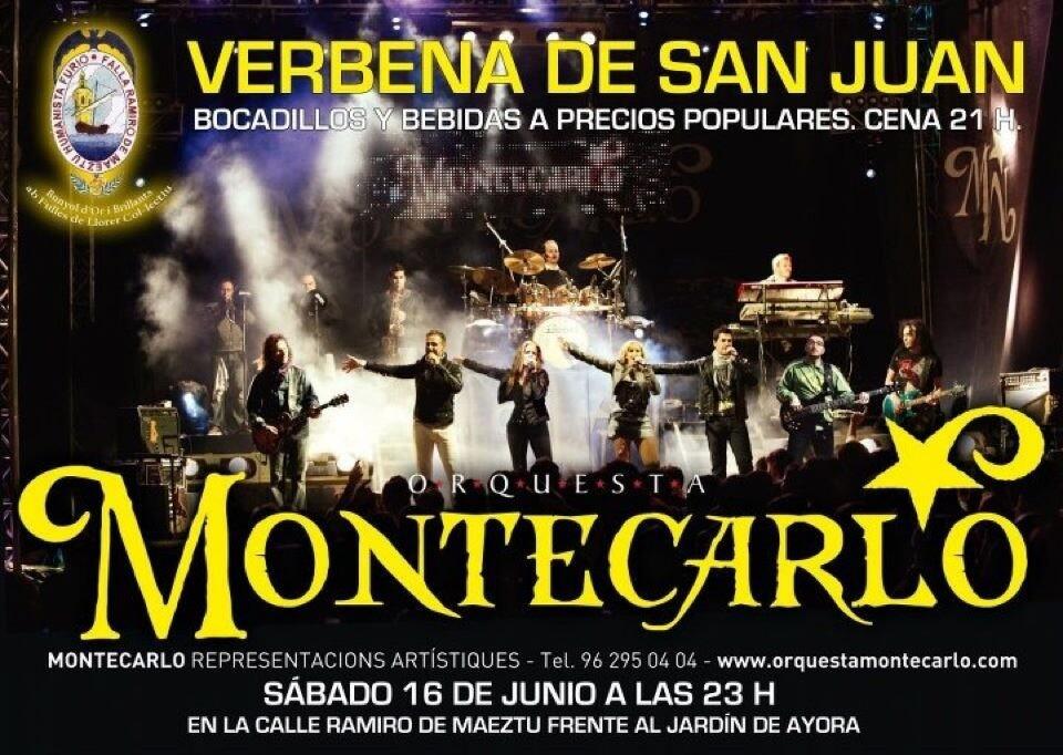 Cartel anunciador de la gran verbena de la Montecarlo en Ramiro de Maeztu-Humanista Furió