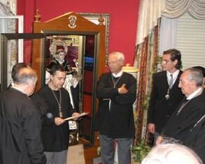 Acto de El Altar del Tossal de entrega de la figura de San Vicente Ferrer