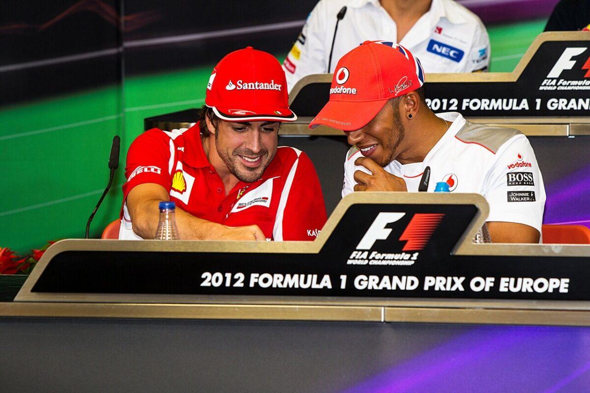 Alonso y Hamilton, en la presentación de GP de Europa