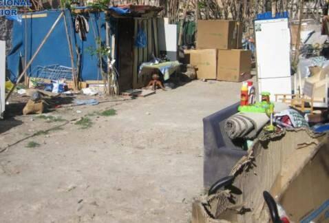 Uno de los asentamientos que desmanteló la policía nacional hace poco