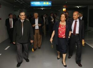 La alcaldesa, Rita Barberá, con Alfonso Novo, en la inauguración del aparcamiento de Vinatea/pepe sapena
