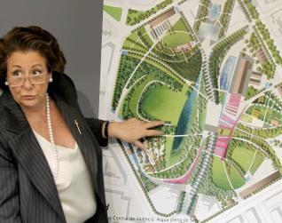 Barberá explica pormenores del proyecto del futuro Parque Central. Foto de archivo