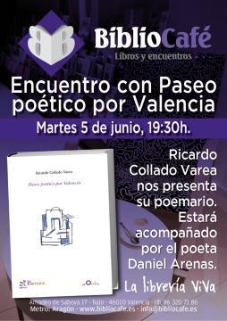 Cartel anunciador de la presentación del poemario.