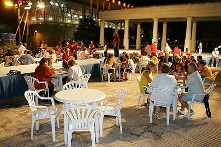 Una de las sesiones de los campeonatos de truc en los Jardines del Palau/j. v.zaragoza