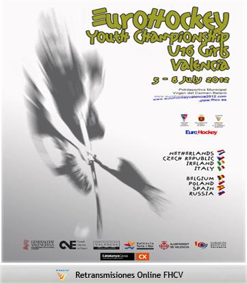 Cartel del campeonato de Eurohockey femenino 2012