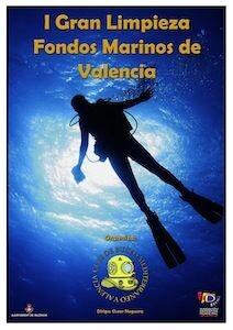 Cartel anunciador de la I limpieza de fondos marinos
