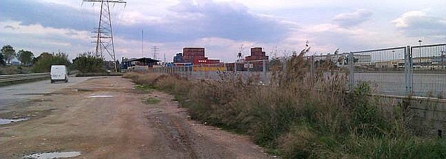 Zona donde estaban la mayoría de bases de contenedores antes de su traslado a Ribarroja