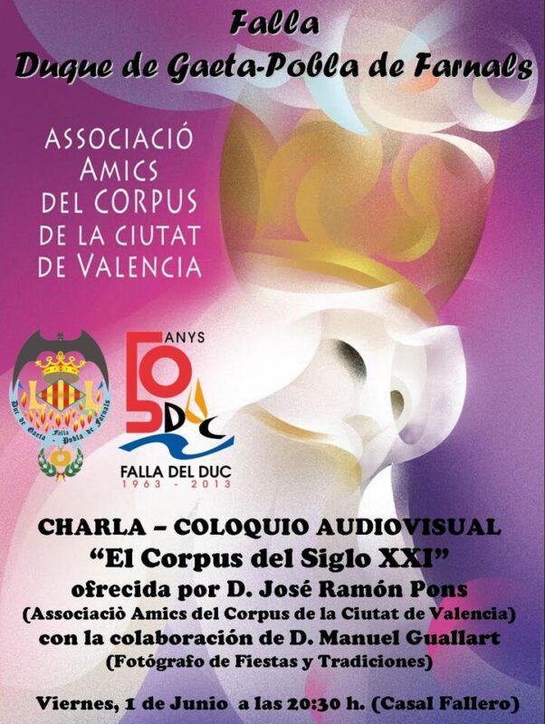 Cartel anunciador de la charla sobre el Corpus
