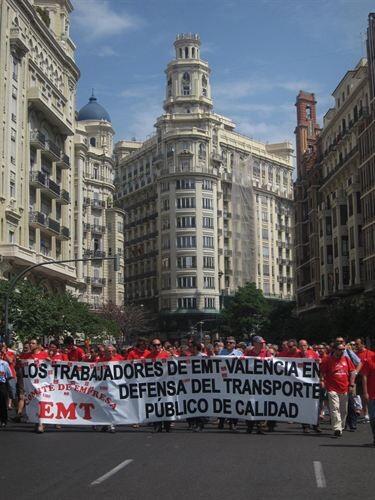 Manifestación trabajadores de la EMT/E.P.