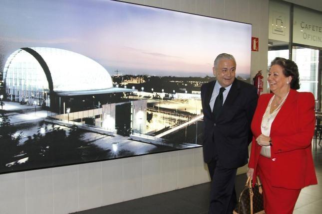 Alberto Catalá y la alcaldesa de Valencia, Rita Barberá.