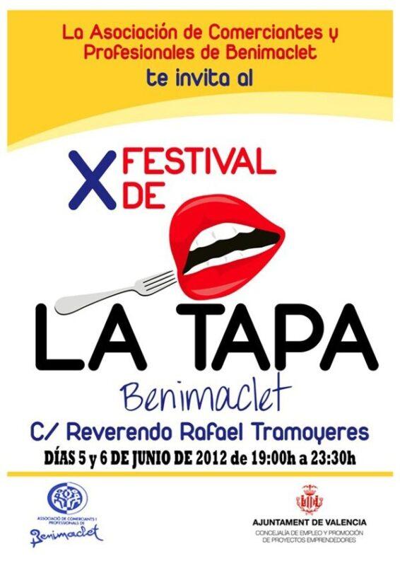 Cartel del Festival de la Tapa de Benimaclet que se inicia hoy
