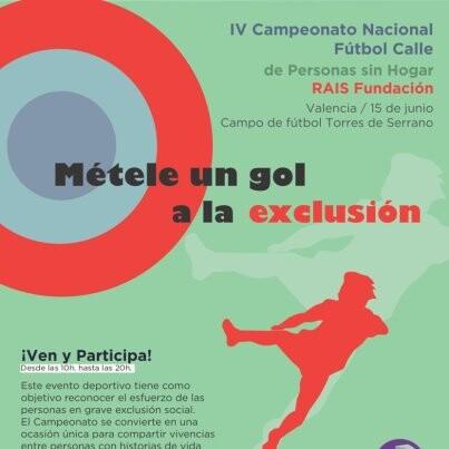 Cartel del IV campeonato de fútbol