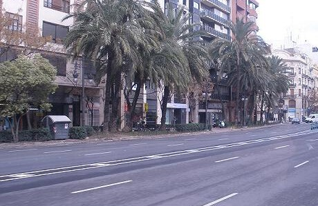 Gran Vía Germanías, zona cercana al lugar del atropello