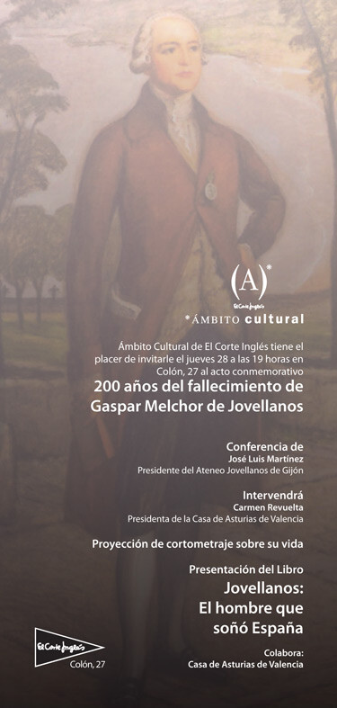 Cartel de la conferencia de Jovellanos