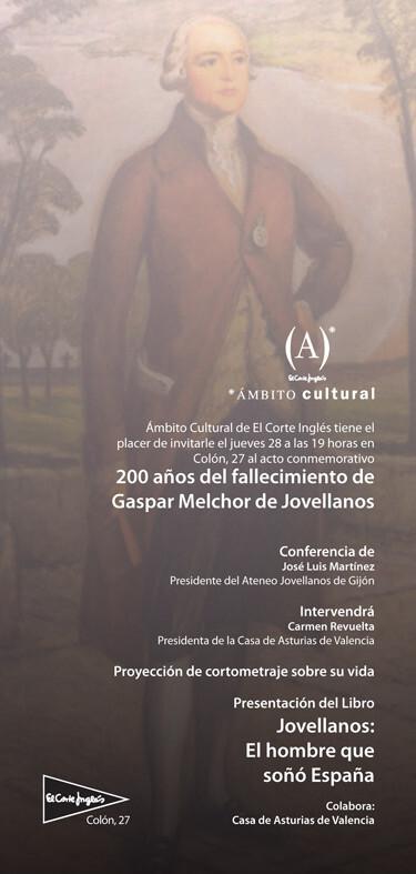 Cartel de la conferencia de Jovellanos