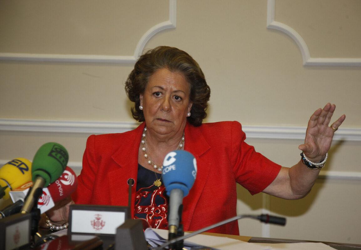 La alcaldesa Rita Barberá durante la rueda de prensa/aytovlc