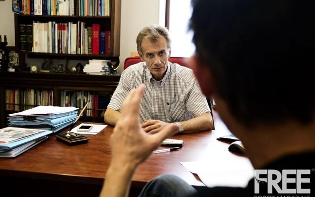Luis García del Moral durante la entrevista concedida a Freesportmagazine.com