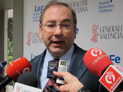 El conseller de Sanidad Luis Rosado