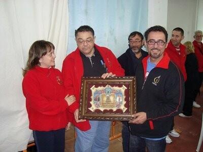 La Real Cofradía de la Columna homenajeó a Pascual Ribera en 2009