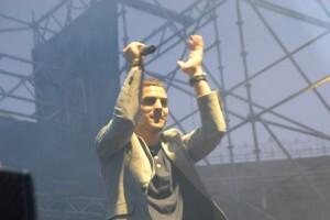 El valenciano David Cuello durante el prólogo que hizo al cantante Pit Bull/m.v.