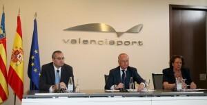 El presidente de Puertos del Estado, el presidente de la Autoridad Portuaria de Valencia, y la alcaldesa de Valencia