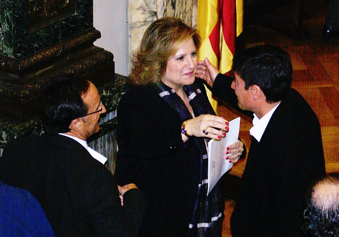 Ramón Llin en un pleno del Emtre