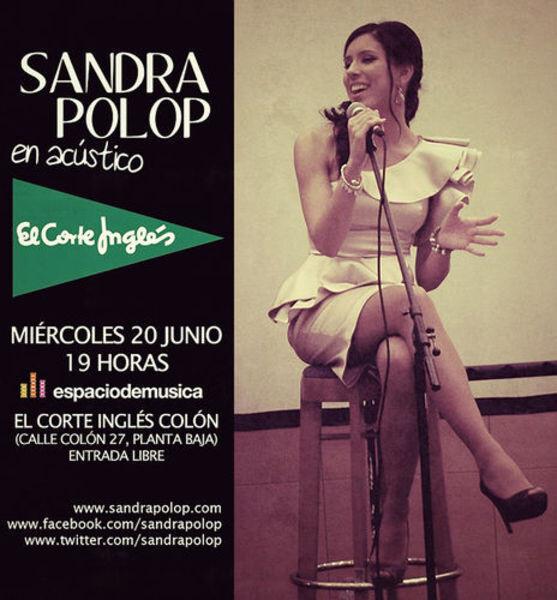 Cartel del concierto de Sandra Polop