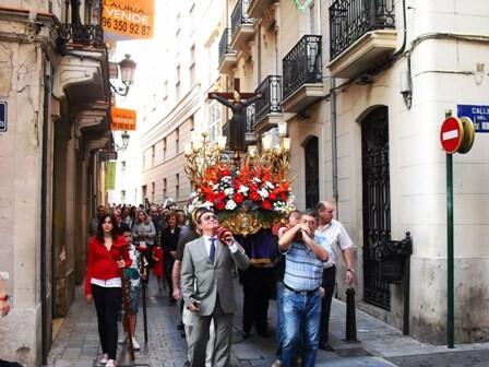Traslado de Sant Bult parar presidir el pregón el año pasado/sant bult