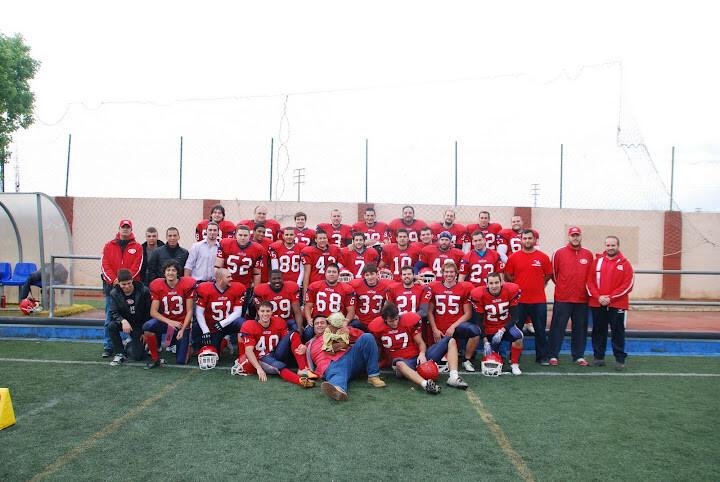 Los jugadores del Valencia Giants en una foto a principio de temporada