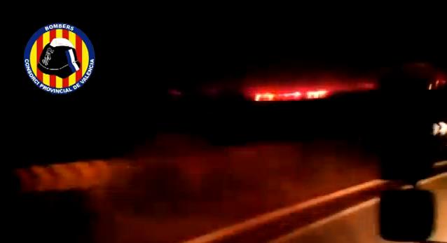 video del incendio de cortes de pallas