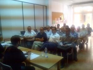 Un momento de la presentación del estudio con los concejales de la oposición