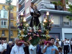 Procesión del Beato Gaspar Bono celebrada hace cuatro años
