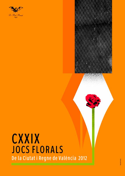 Cartell dels Jocs Florals de Valencia CXXIX edició 2012