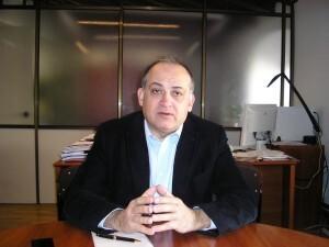Joan Calabuig durante la entrevista que ha concedido a VLCiudad