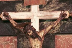 Vista central del Cristo antes de la restauración/clavarios