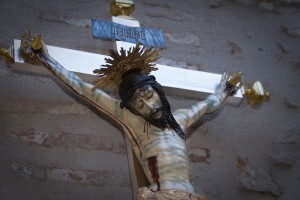 Aspecto del Santísimo Cristo Verdadero después de las obras de restauración/clavarios