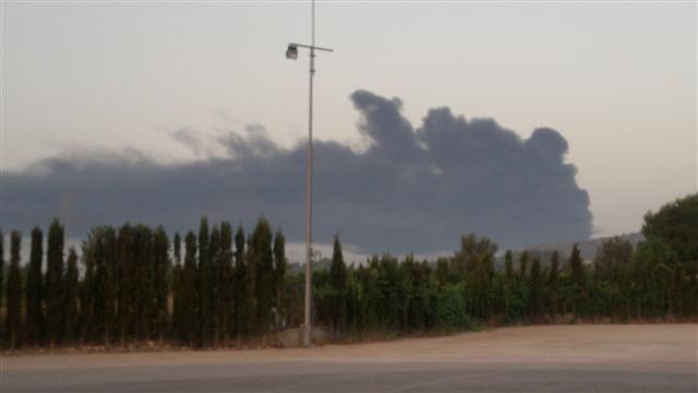 Es crema una nau a la Reva de Riba-roja. El foc ha arrassat 5.000 metres quadrats. (8) (Small)